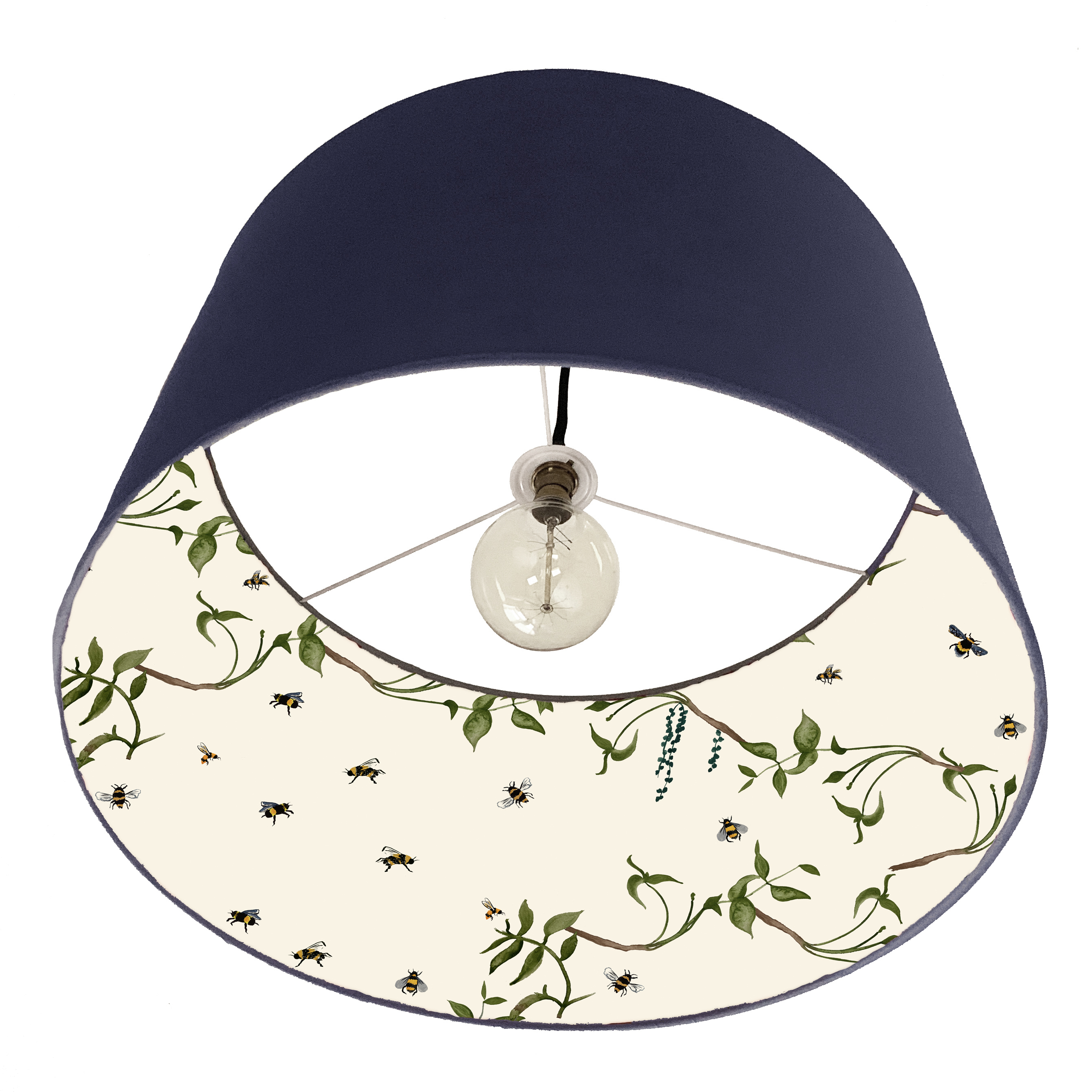Navy Bee lampshade
