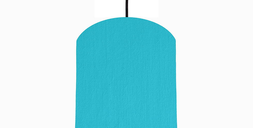 Turquoise & Brushed Copper Lampshade - 20cm Wide