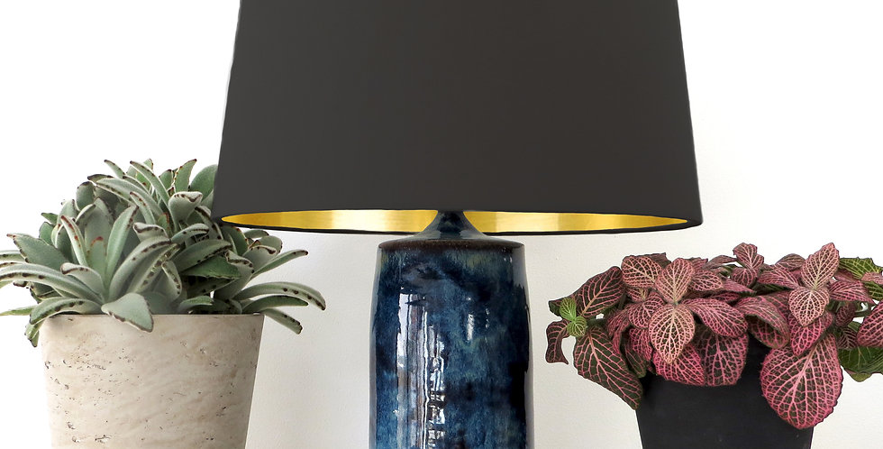 Conical Lampshade (30Tx35Bx30H) - Gold Mirror Lining