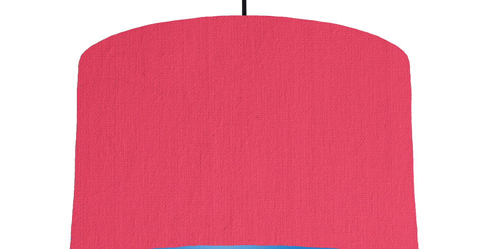 Cerise & Bright Blue Lampshade - 40cm Wide