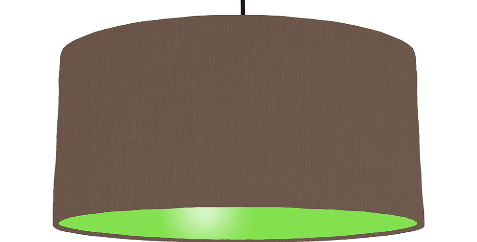 Brown & Lime Green Lampshade - 60cm Wide