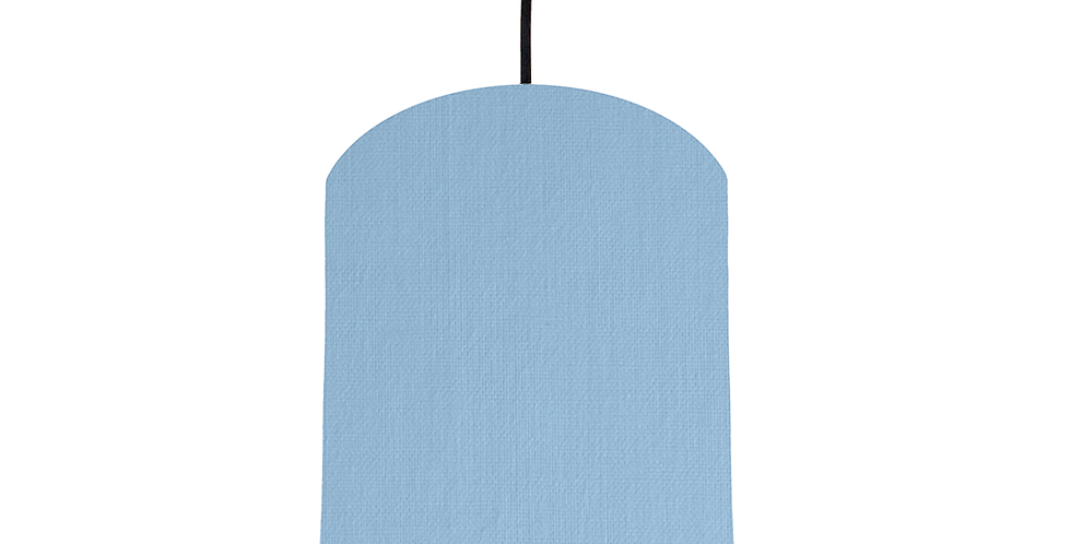 Sky Blue & White Lampshade - 20cm Wide