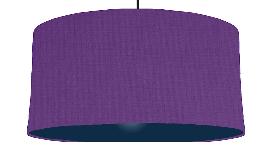 Violet & Navy Lampshade - 60cm Wide
