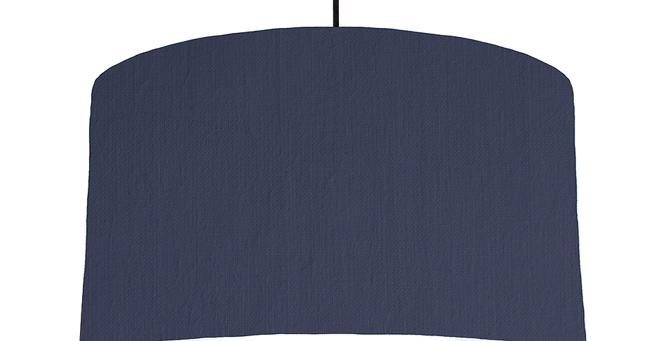 Navy & White Lampshade - 50cm Wide
