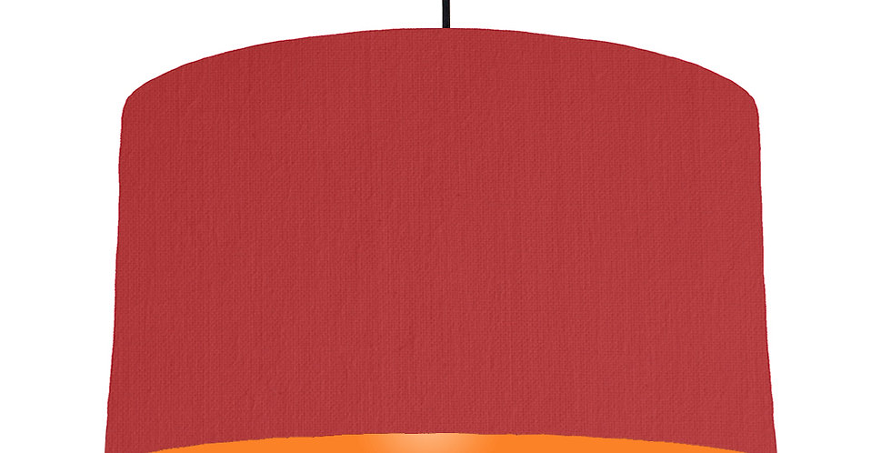 Red & Orange Lampshade - 50cm Wide