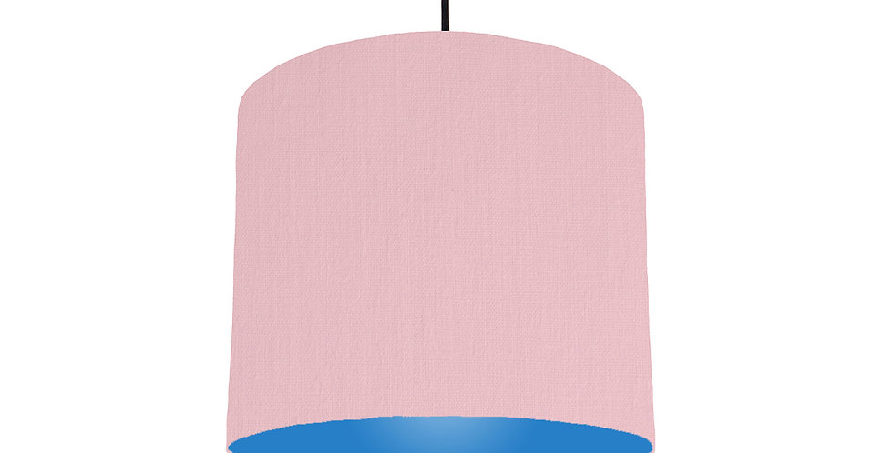 Pink & Bright Blue Lampshade - 25cm Wide
