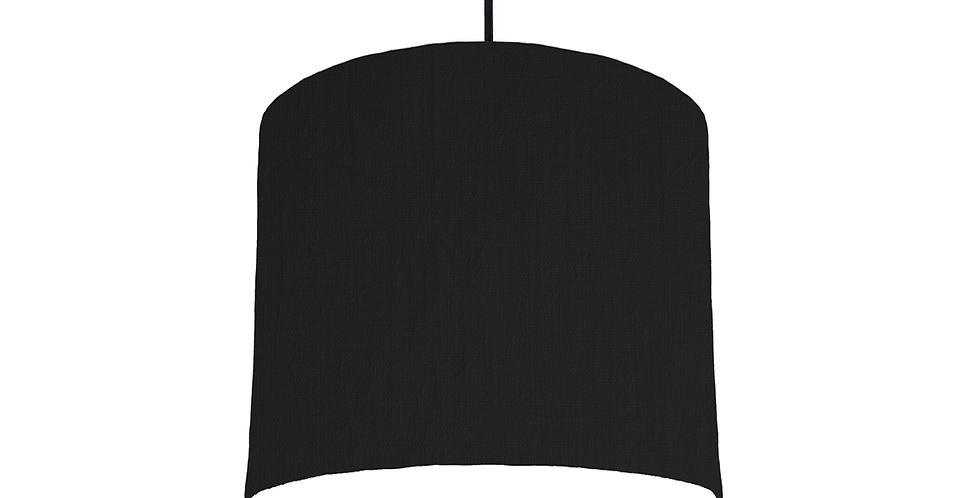 Black & White Lampshade - 25cm Wide