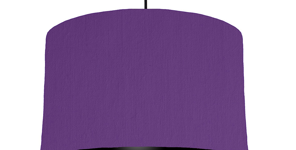 Violet & Black Lampshade - 40cm Wide