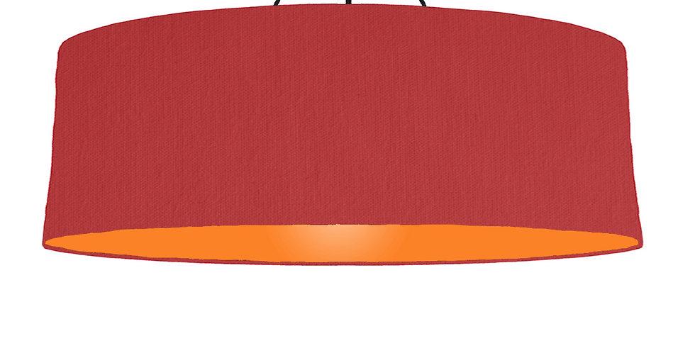 Red & Orange Lampshade - 100cm Wide