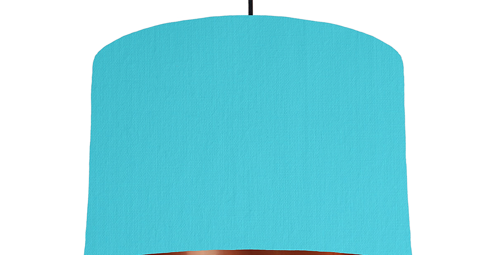 Turquoise & Copper Mirrored Lampshade - 30cm Wide