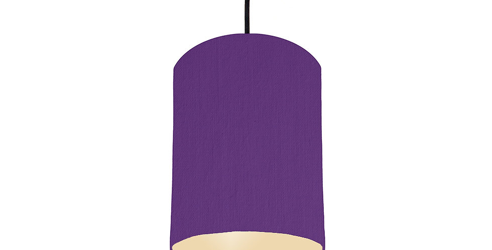 Violet & Ivory Lampshade - 15cm Wide