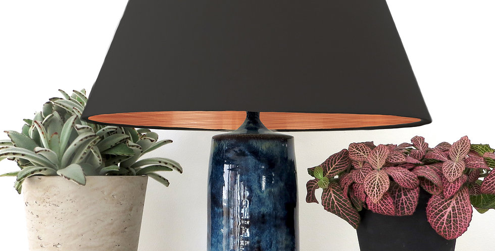 Conical Lampshade (30Tx40Bx30H) - Brushed Copper Lining