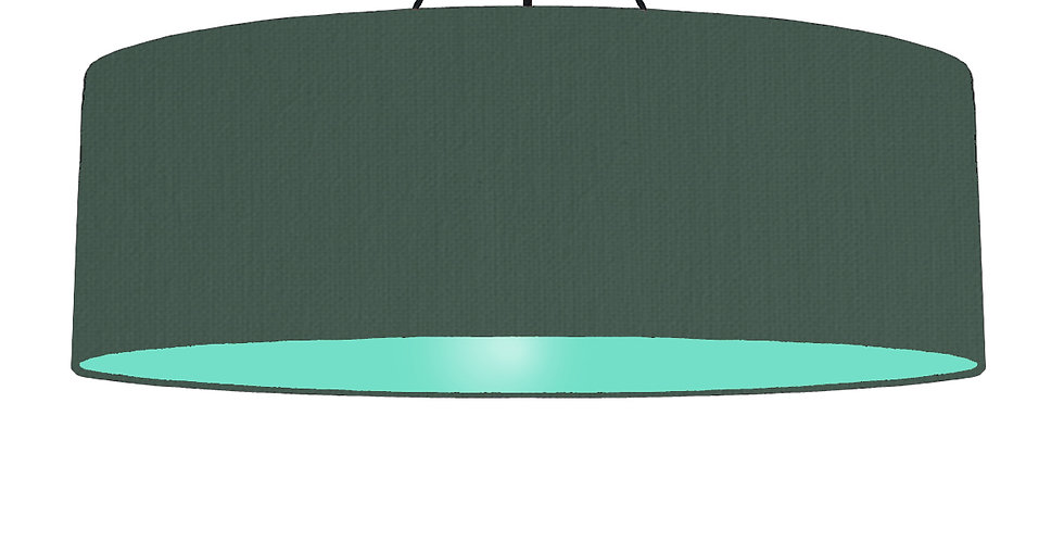 Bottle Green & Mint Lampshade - 100cm Wide