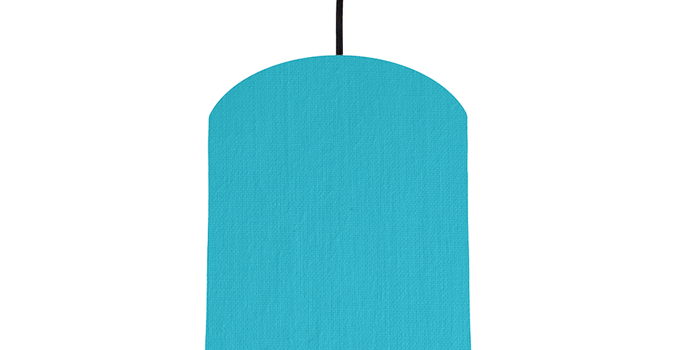Turquoise & White Lampshade - 20cm Wide
