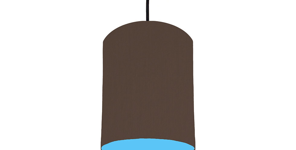 Brown & Light Blue Lampshade - 15cm Wide