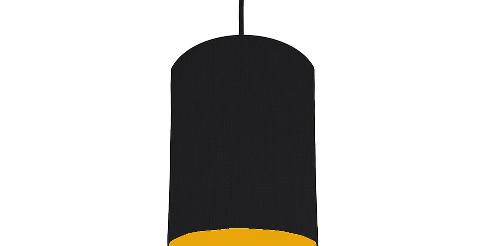 Black & Mustard Lampshade - 15cm Wide