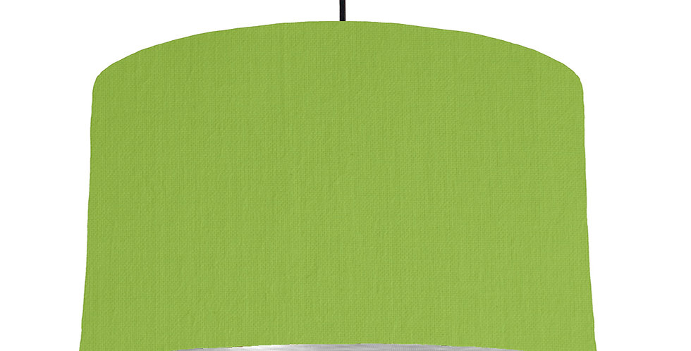 Pistachio & Brushed Silver Lampshade - 50cm Wide