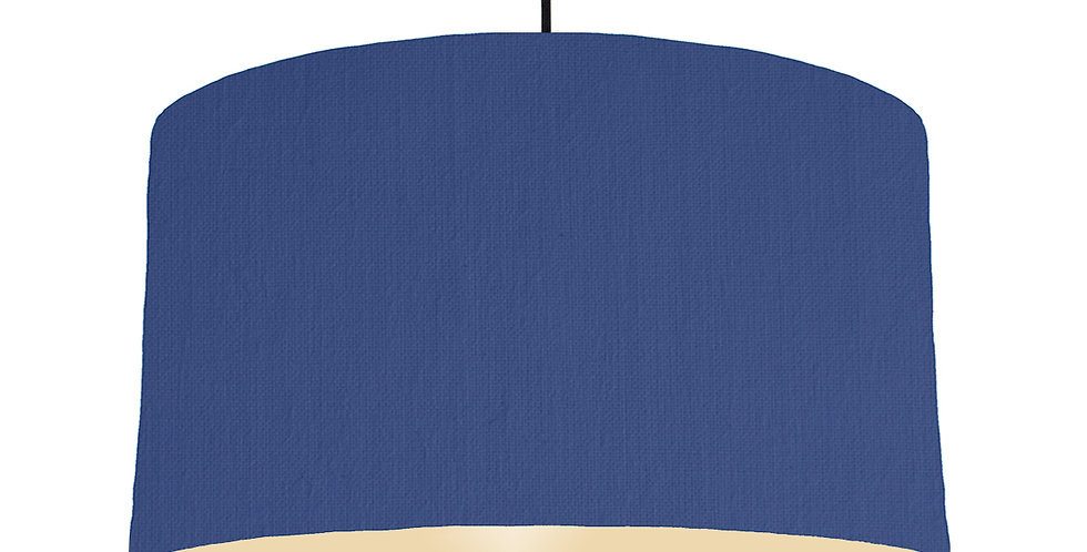 Royal Blue & Ivory Lampshade - 50cm Wide