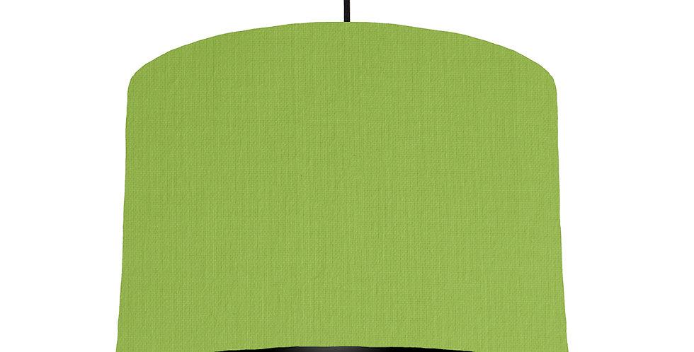 Pistachio & Black Lampshade - 30cm Wide