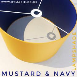 Mustard lampshade