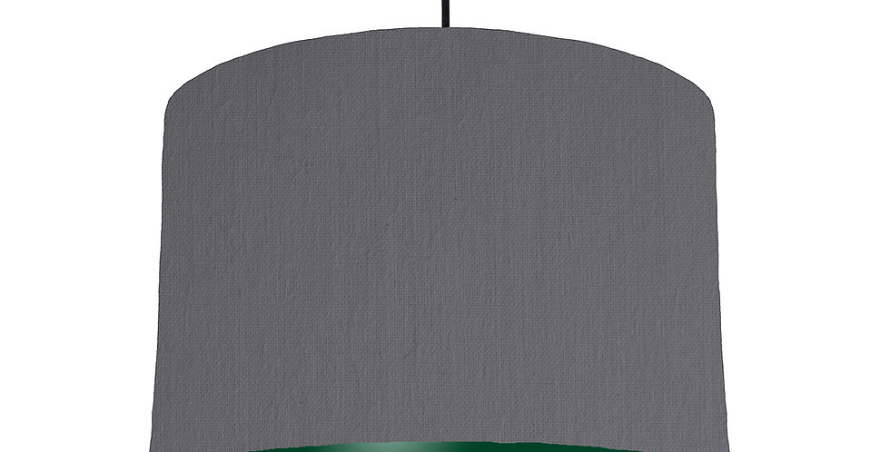 Dark Grey & Forest Green Lampshade - 30cm Wide