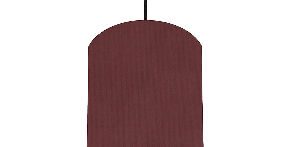 Wine Red & Mint Lampshade - 20cm Wide