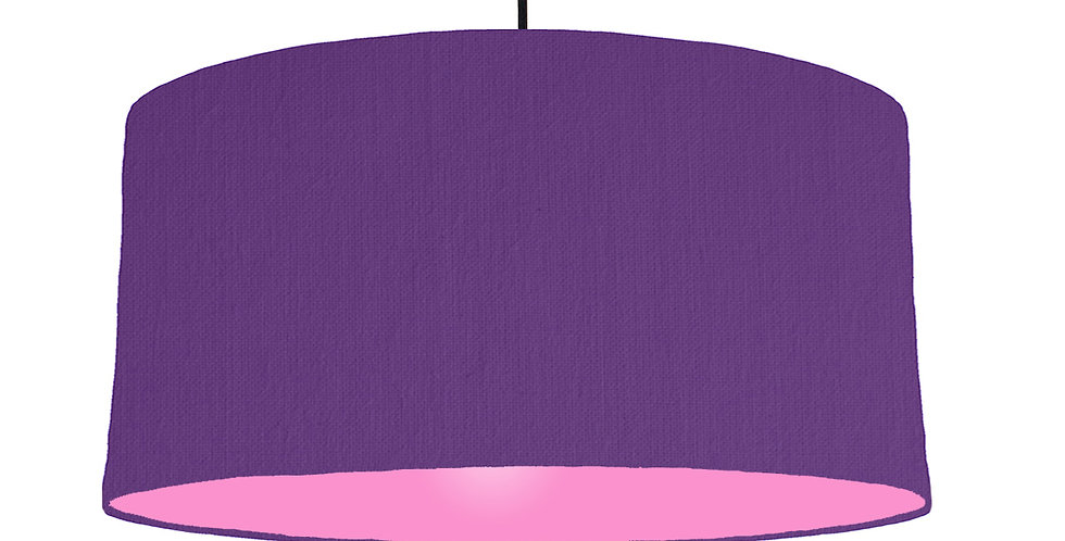 Violet & Pink Lampshade - 60cm Wide