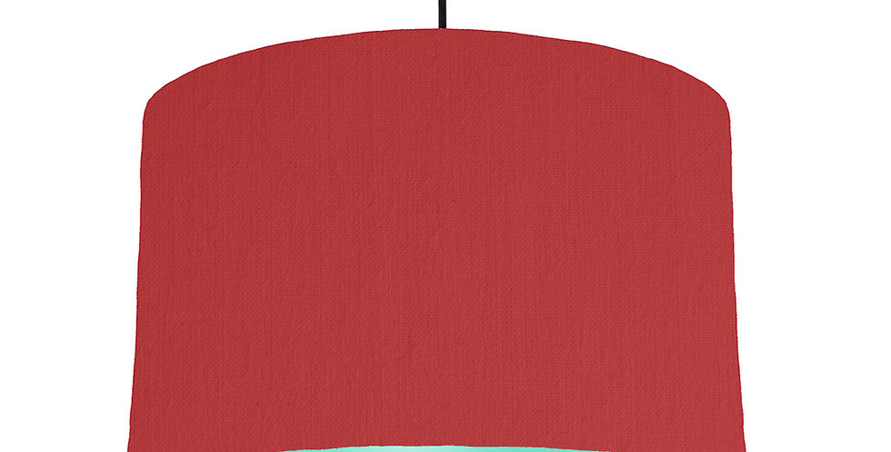 Red & Mint Lampshade - 40cm Wide