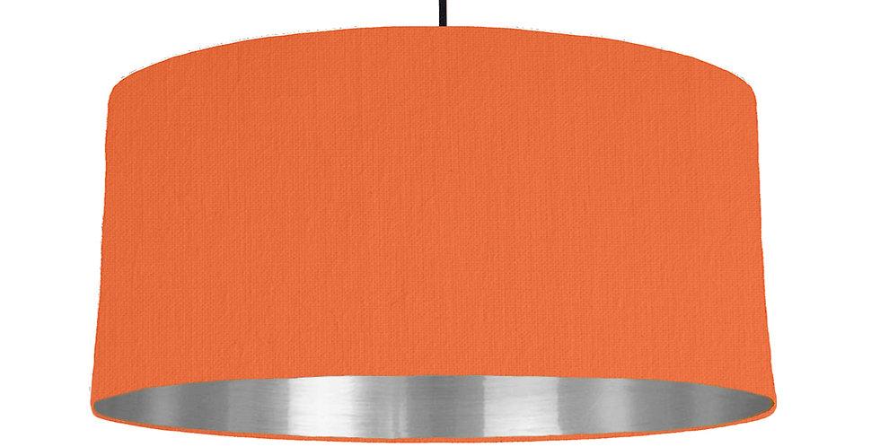 Orange & Silver Mirrored Lampshade - 60cm Wide