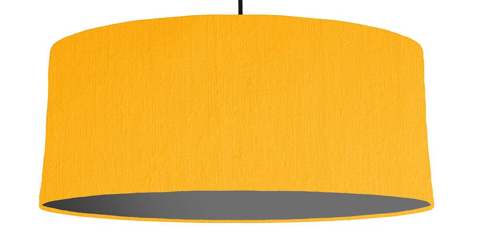 Sunshine & Dark Grey Lampshade - 70cm Wide