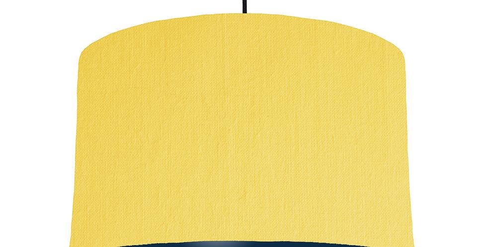 Lemon & Navy Lampshade - 40cm Wide