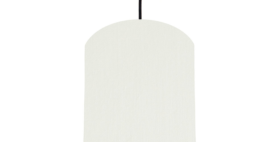 White & Light Grey Lampshade - 20cm Wide