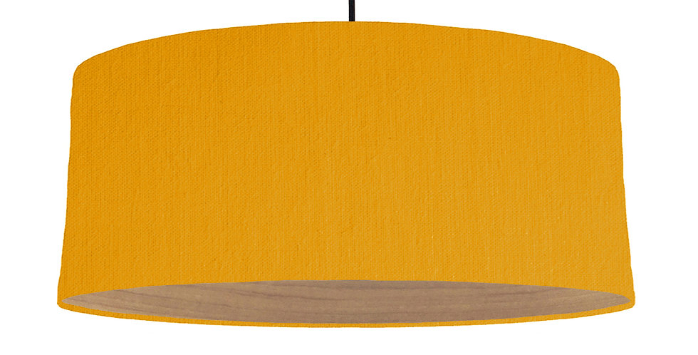 Mustard & Wooden Lined Lampshade - 70cm Wide