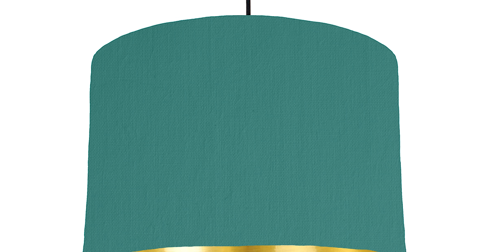 Jade & Gold Mirrored Lampshade - 30cm Wide