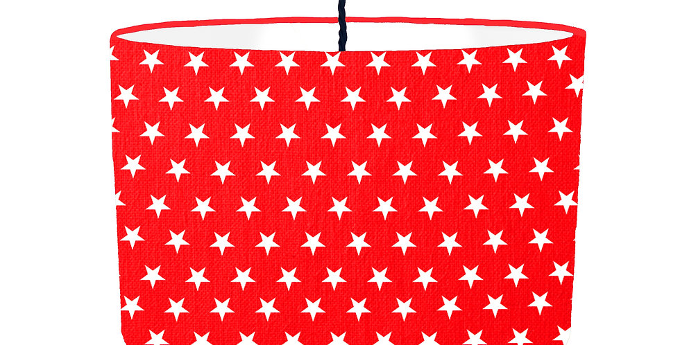 Red Star Lampshade - White Lining