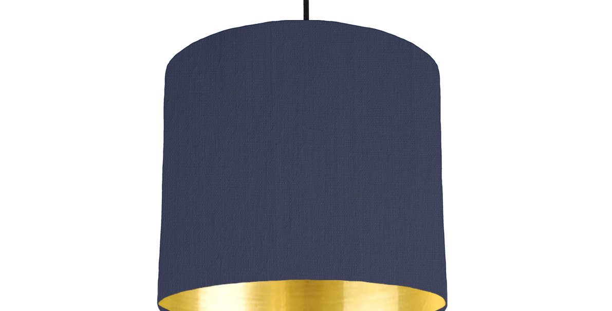 Gold Mirrored Lampshade 25cm Wide