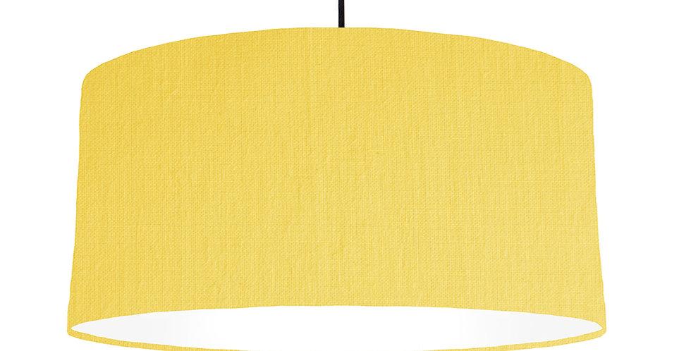 Lemon & White Lampshade - 60cm Wide