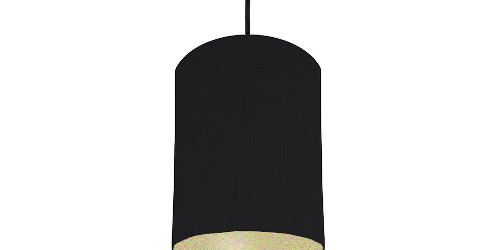 Black & Gold Matt Lampshade - 15cm Wide