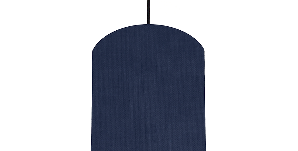 Navy & White Lampshade - 20cm Wide