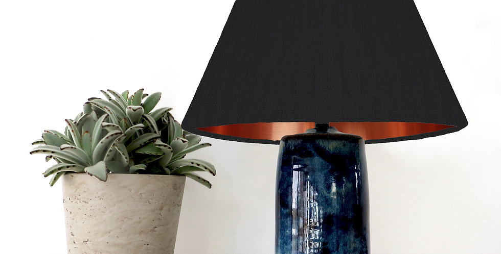 Conical Lampshade (15Tx45Bx30H) - Copper Mirror Lining