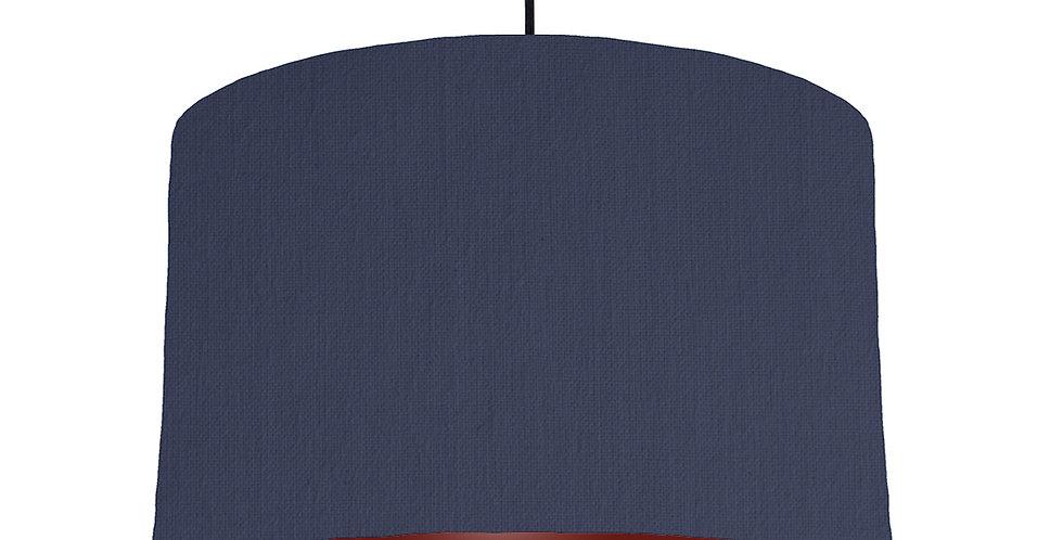 Navy Blue & Burgundy Lampshade - 40cm Wide