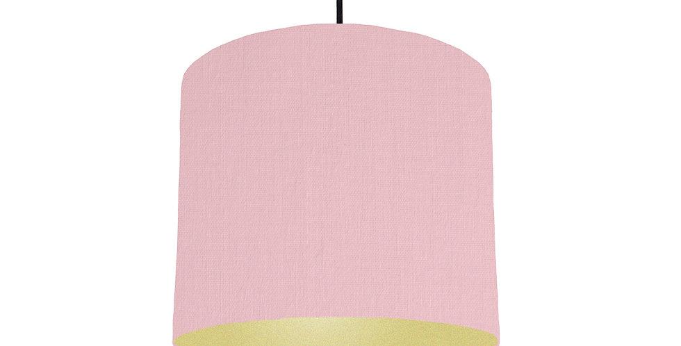 Pink & Gold Matt Lampshade - 25cm Wide