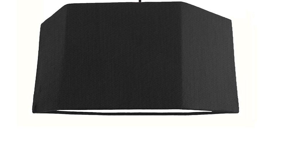 Black & White Hexagon Lampshade - 40cm Wide