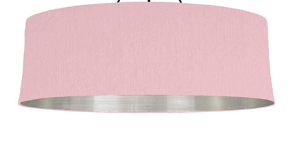 Pink & Brushed Silver Lampshade - 100cm Wide