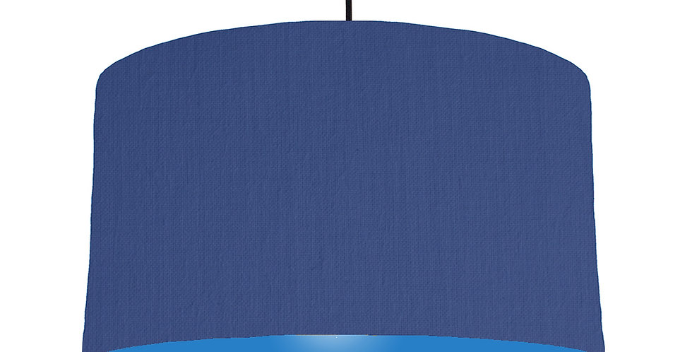 Royal Blue & Bright Blue Lampshade - 50cm Wide
