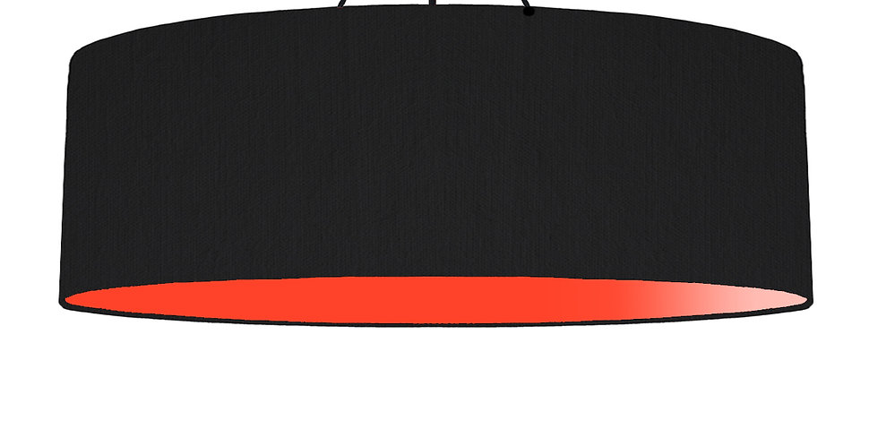 Black & Poppy Red Lampshade - 100cm Wide