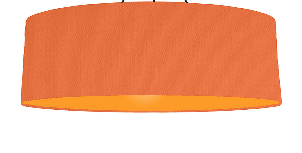 Orange & Orange Lampshade - 100cm Wide