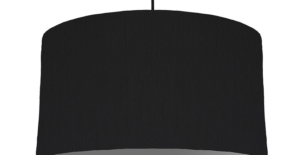 Black & Dark Grey Lampshade - 50cm Wide