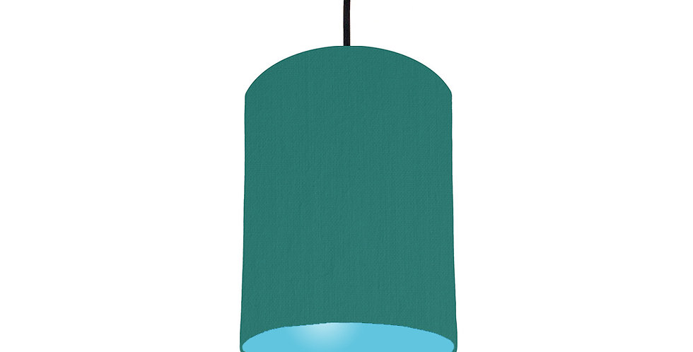 Jade & Light Blue Lampshade - 15cm Wide