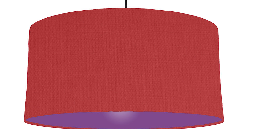 Red & Purple Lampshade - 60cm Wide